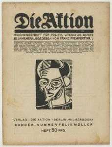Conrad Felixmüller - Die Aktion, vol. 7, no. 7 8