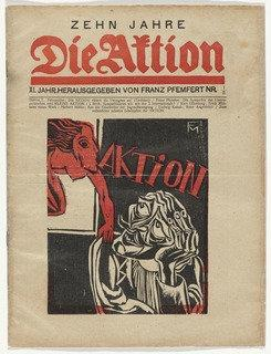 Die Aktion, vol. 11, no. 1 2, Wood by Conrad Felixmüller (1897-1977)