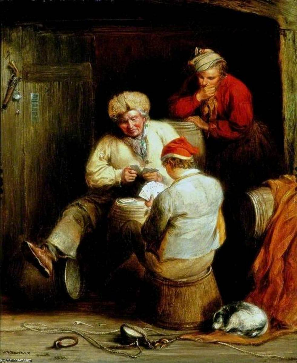Smugglers Playing Cards, 1847 by Henry Perlee Parker | Museum Quality Reproductions | WahooArt.com