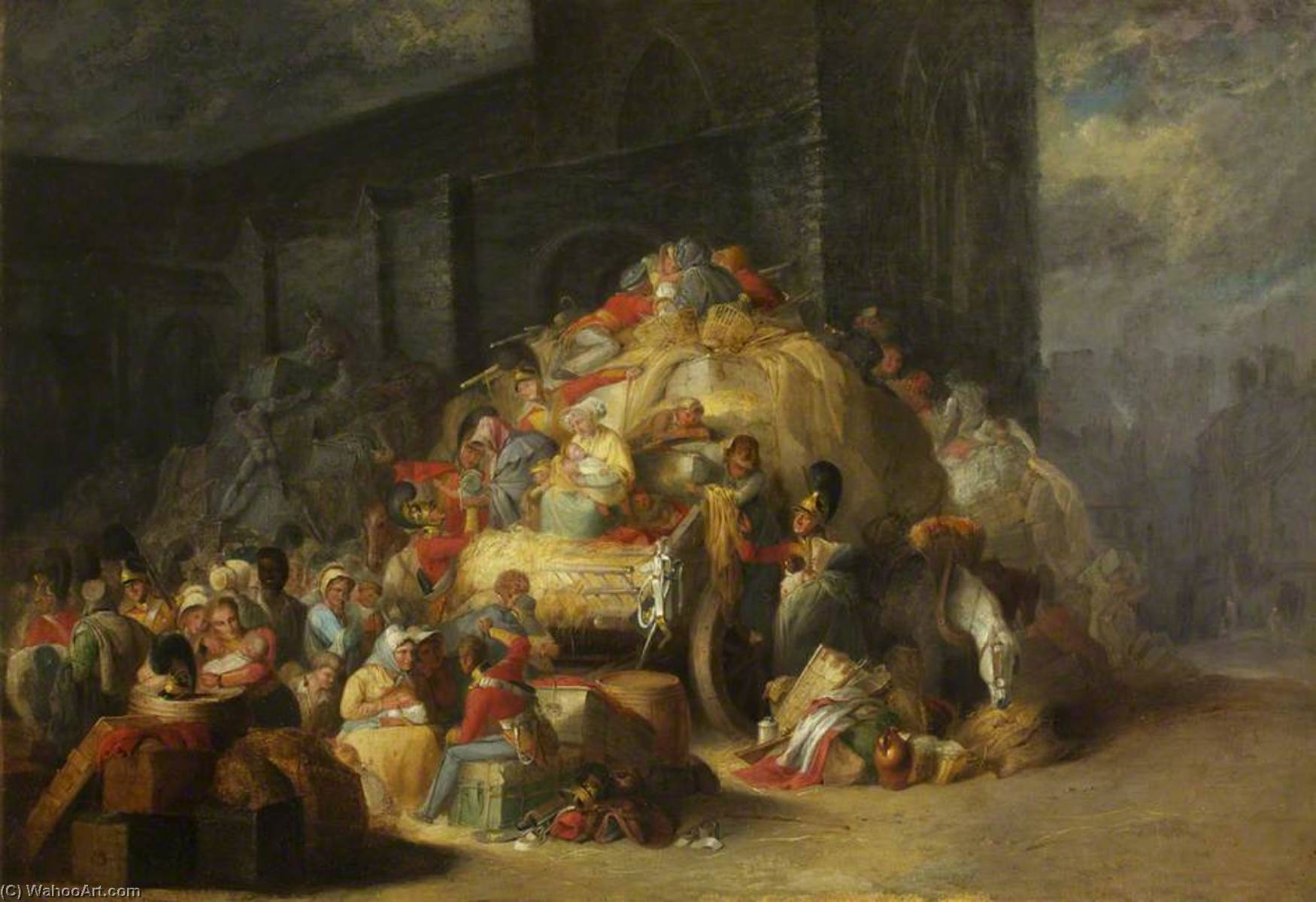 1st King's Dragoon Guards, The Baggage Train, Oil On Canvas by Henry Perlee Parker