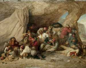 Henry Perlee Parker - The Smugglers- Cave