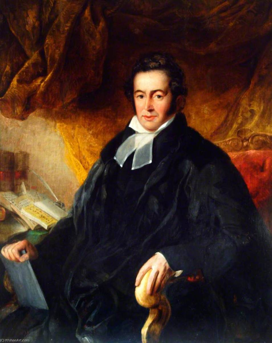 Reverend Robert Morrison (1782–1834), First Christian Protestant Missionary in China by Henry Perlee Parker | Painting Copy | WahooArt.com