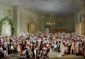 Henry Perlee Parker - Fancy Dress Ball in The Mansion House, Coronation of William IV