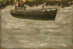 Order Oil Painting : Trawler, 1925 by Alfred Wallis (1855-1942, United Kingdom) | WahooArt.com