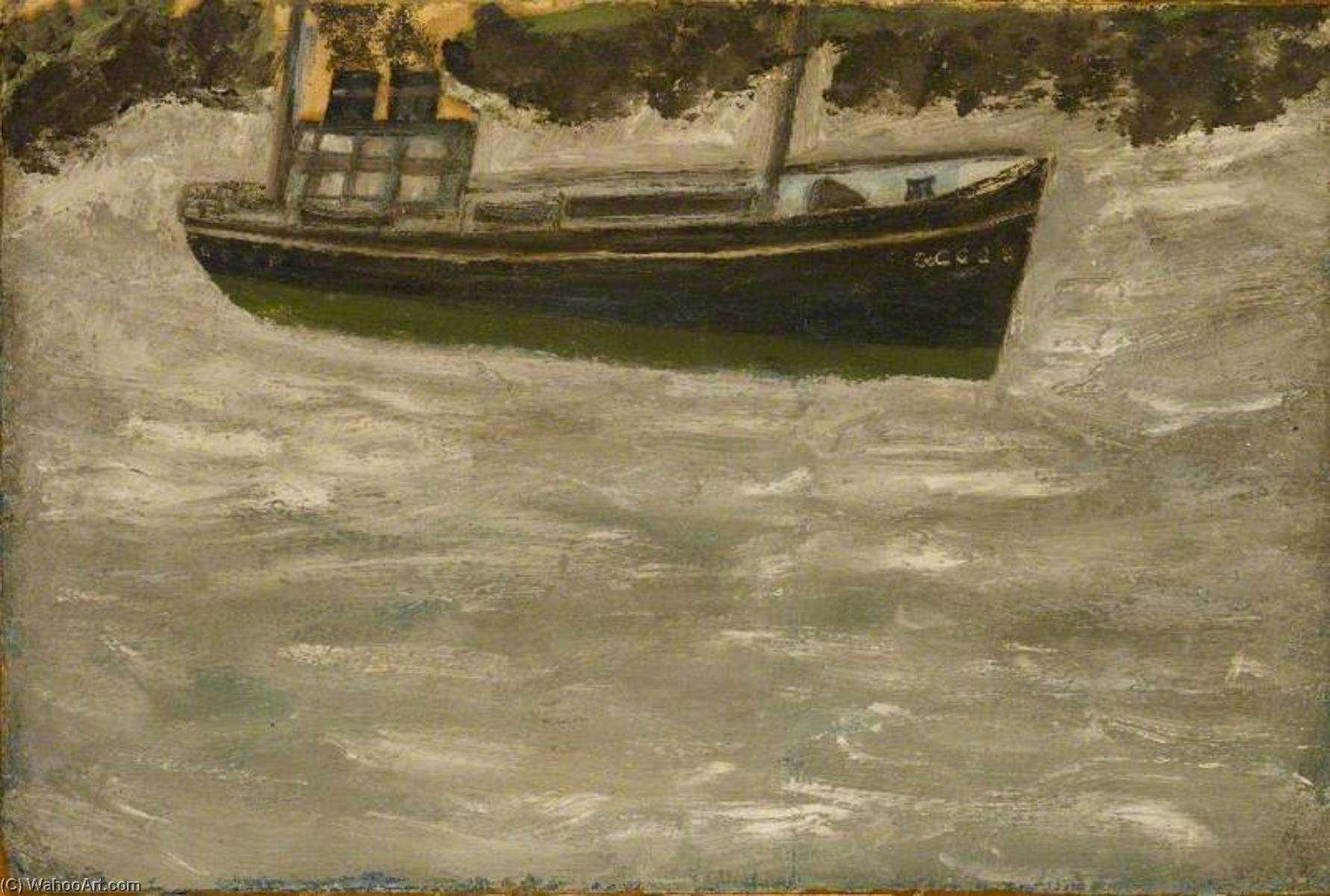 Trawler, 1925 by Alfred Wallis (1855-1942, United Kingdom) | Oil Painting | WahooArt.com