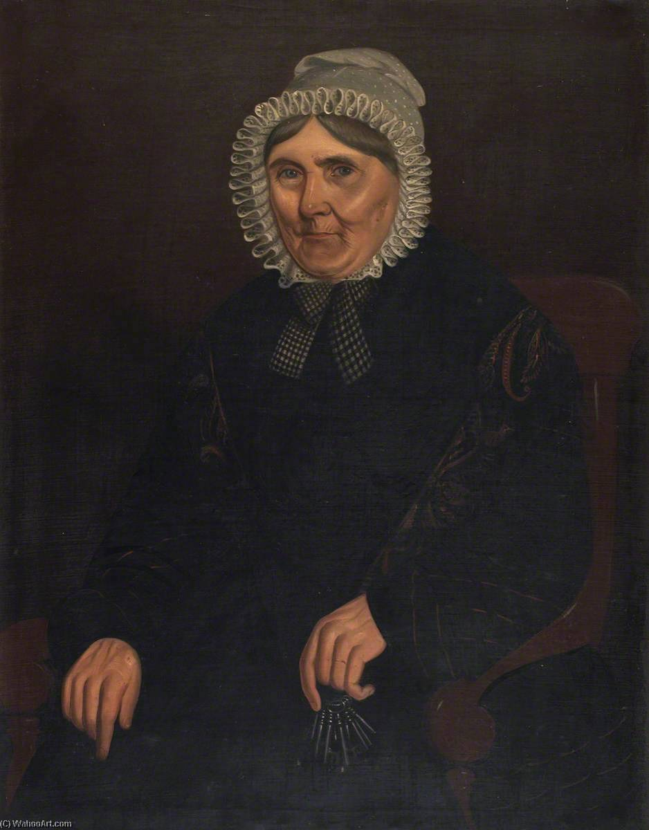 Order Art Reproductions | Half Length Portrait of a Woman, 1840 by William Roos | WahooArt.com