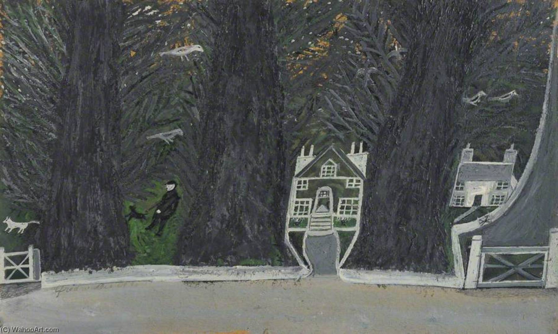 Cottages in a Wood, St Ives, 1937 by Alfred Wallis (1855-1942, United Kingdom) | WahooArt.com