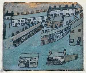 Alfred Wallis - Houses at St Ives, Cornwall