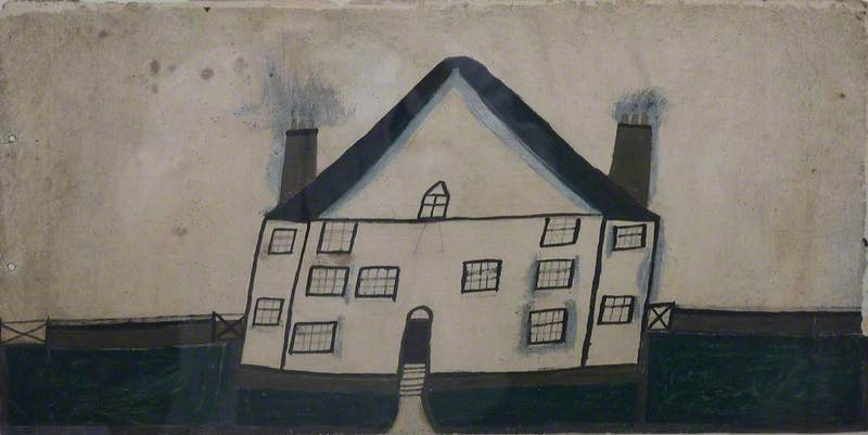 House, 1936 by Alfred Wallis (1855-1942, United Kingdom) | Famous Paintings Reproductions | WahooArt.com