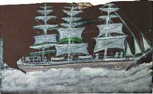 Alfred Wallis - White sailing ship – three masts
