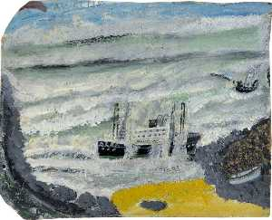 Alfred Wallis - Shipwreck 2, the Wreck of the 'Alba'