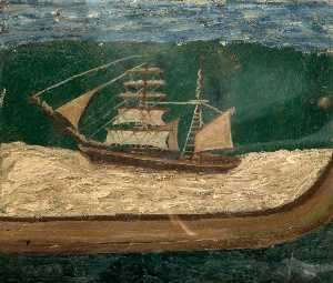 Alfred Wallis - A Brig, Close to Shore