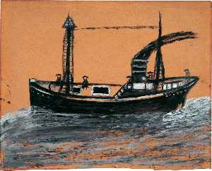 Alfred Wallis - Black Steamship