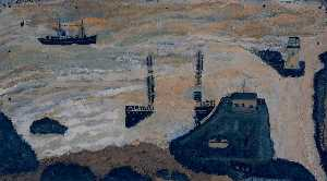 Alfred Wallis - Wreck of the Alba