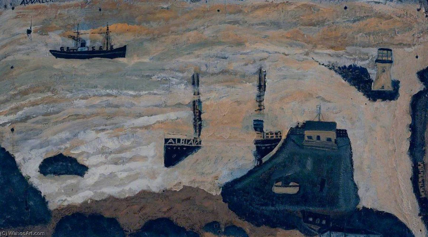 Wreck of the Alba by Alfred Wallis (1855-1942, United Kingdom) | WahooArt.com
