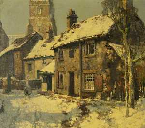 Stanley Royle - Village Street, Winter