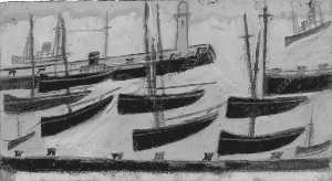 Alfred Wallis - Nine Ships in Harbour