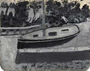 Alfred Wallis - Ship, People and Animals