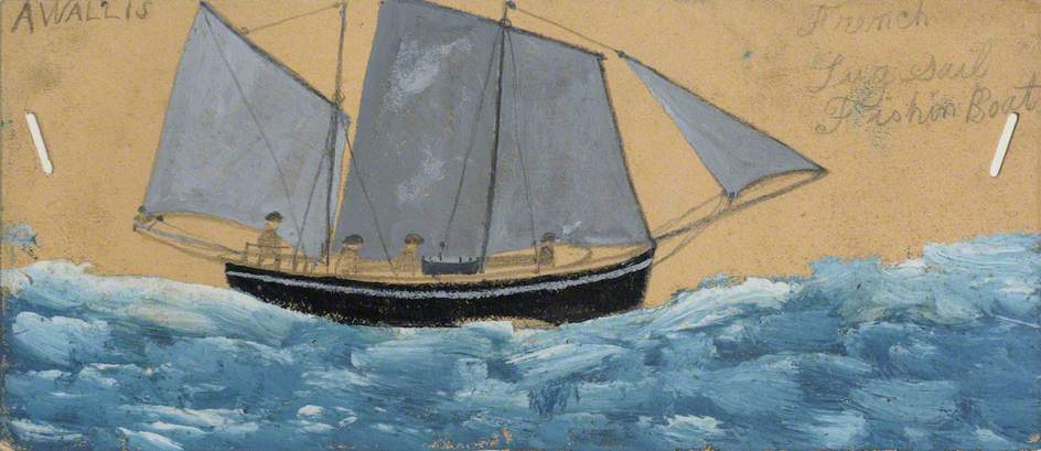 French Lugsail Fishing Boat by Alfred Wallis (1855-1942, United Kingdom) | WahooArt.com