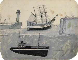 Alfred Wallis - Ships in Harbour