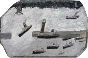 Alfred Wallis - Penzance Harbour