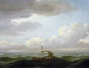 John Cleveley The Elder - The Yawl of the 'Luxborough' Galley