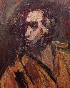 David Garshen Bomberg - Self Portrait (verso)