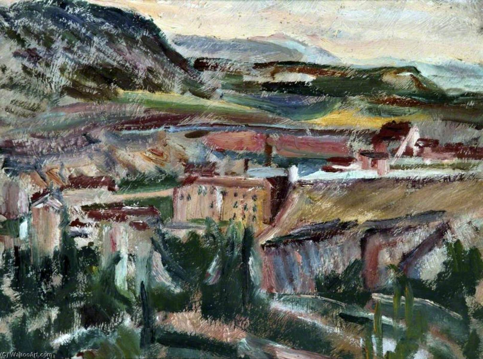 Cuenca, 1934 by David Garshen Bomberg (1890-1957, United Kingdom) | WahooArt.com