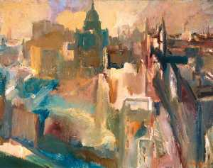David Garshen Bomberg - Evening in the City of London