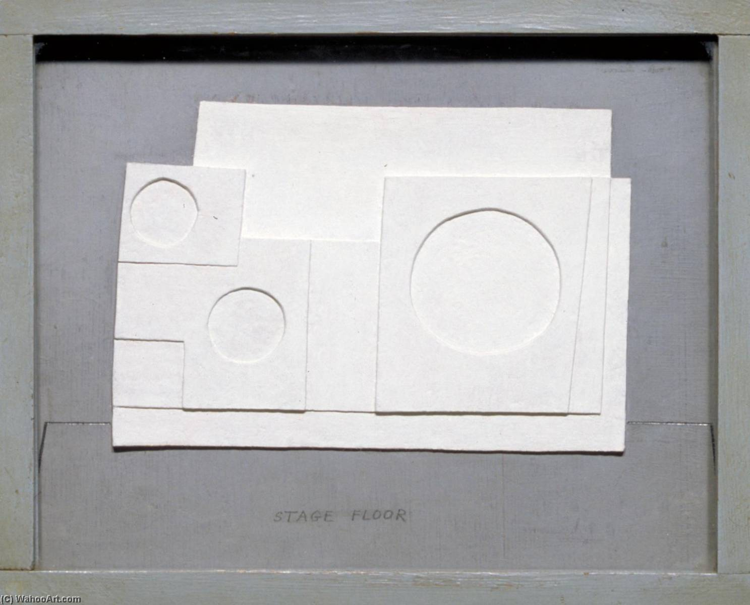1934 project for Massine for Beethoven 7th Symphony Ballet, Graphite by Ben Nicholson (1894-1982, United Kingdom)