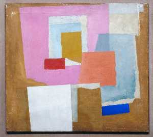 Ben Nicholson - 1924 (first abstract painting, Chelsea)