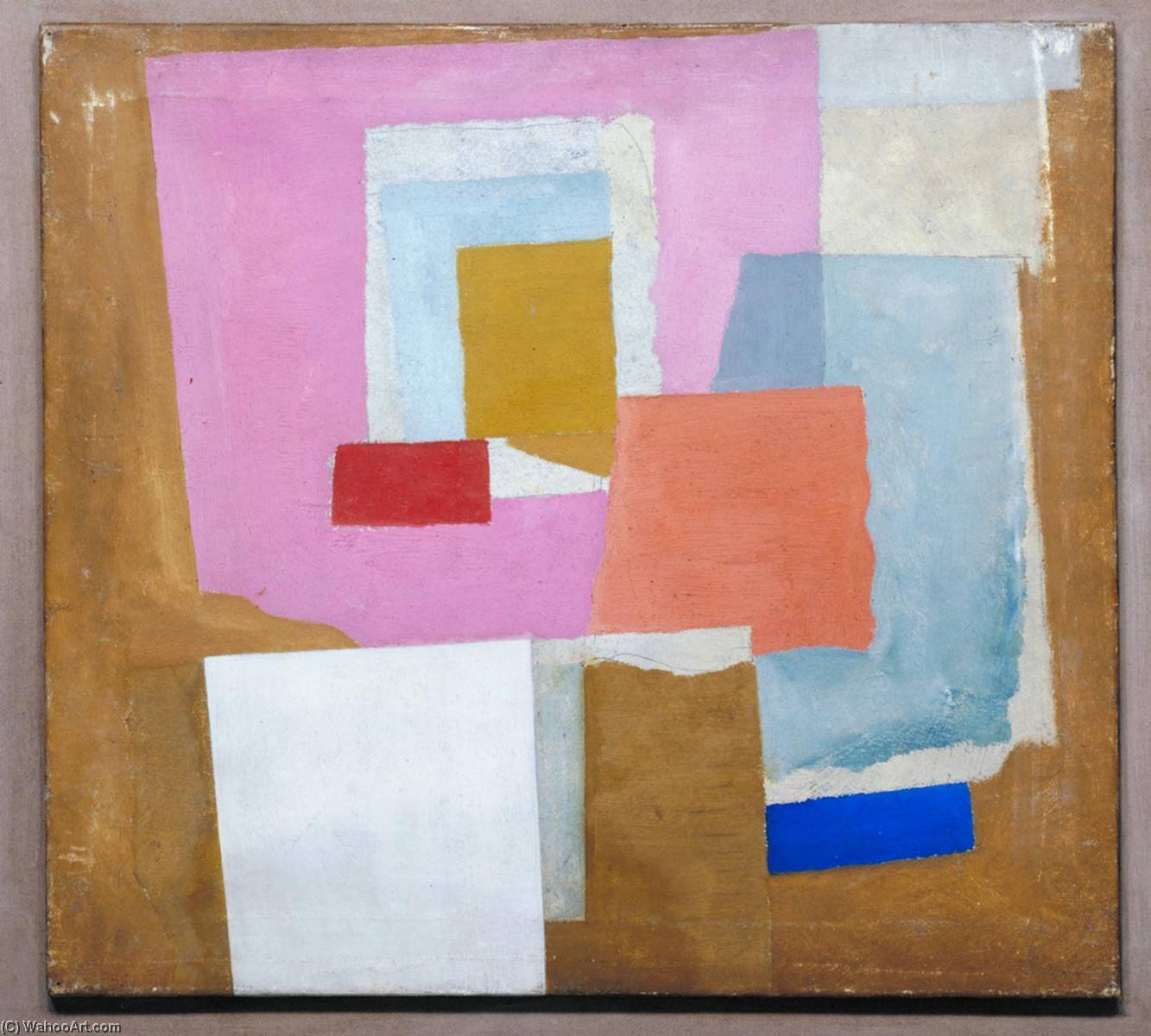1924 (first abstract painting, Chelsea) by Ben Nicholson (1894-1982, United Kingdom) | Oil Painting | WahooArt.com