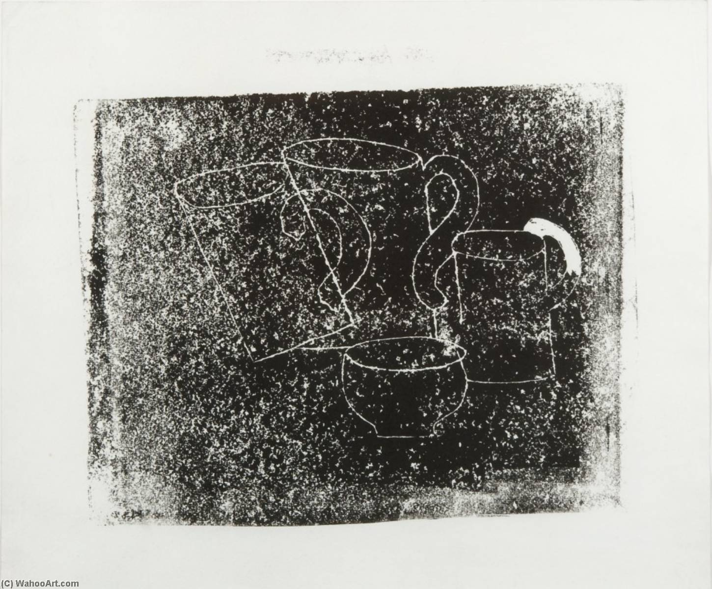 1928 (three mugs and a bowl), 1928 by Ben Nicholson (1894-1982, United Kingdom) | Painting Copy | WahooArt.com
