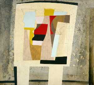 Ben Nicholson - 14 March 1947 (still life – spotted curtain)