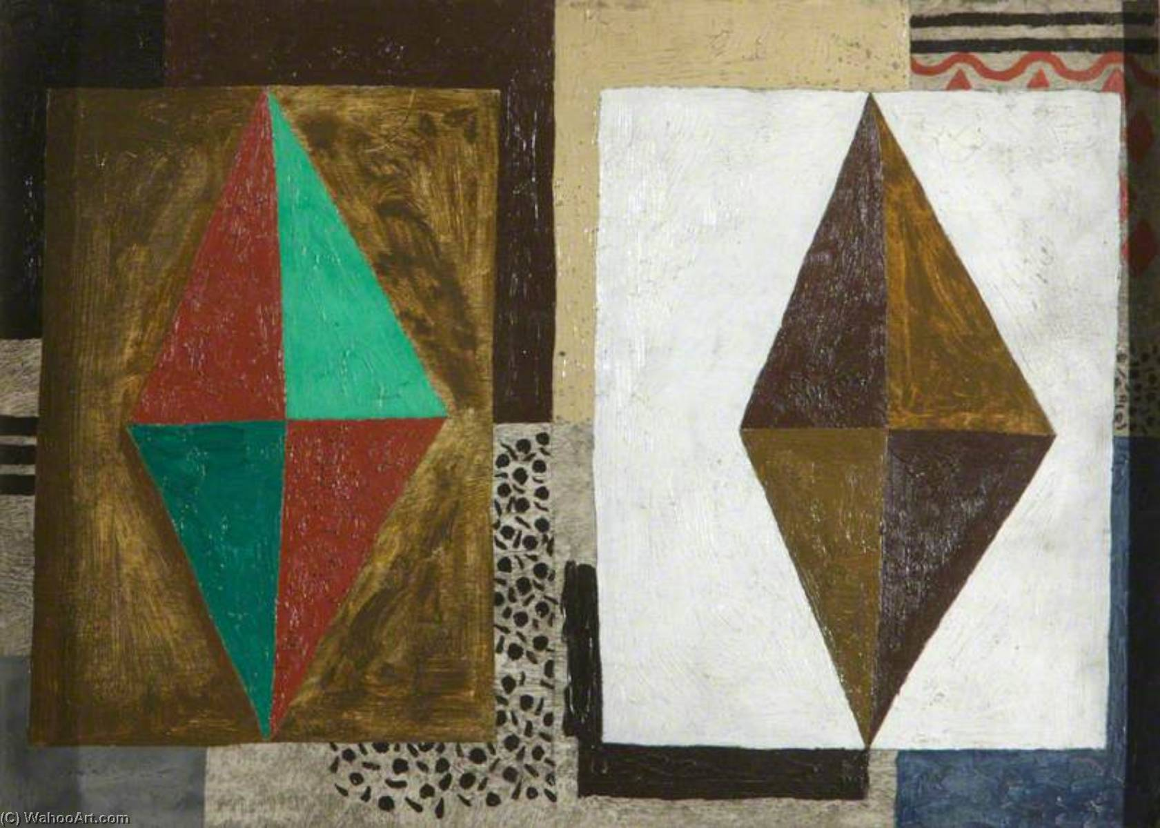 1929 (composition), Oil by Ben Nicholson (1894-1982, United Kingdom)