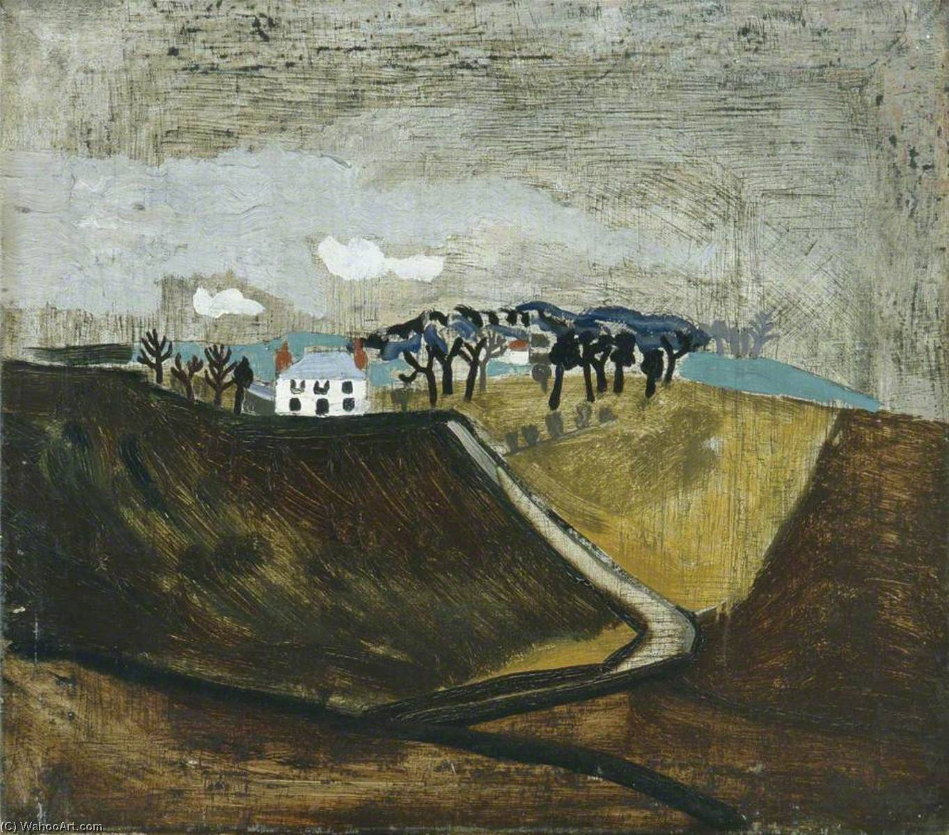 1930 (Cumberland farm), 1930 by Ben Nicholson (1894-1982, United Kingdom) |  | WahooArt.com