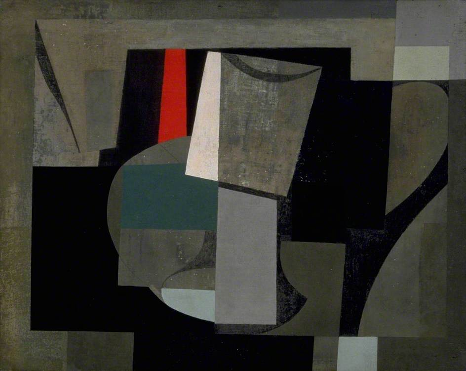 1934 6 (painting still life), Canvas by Ben Nicholson (1894-1982, United Kingdom)