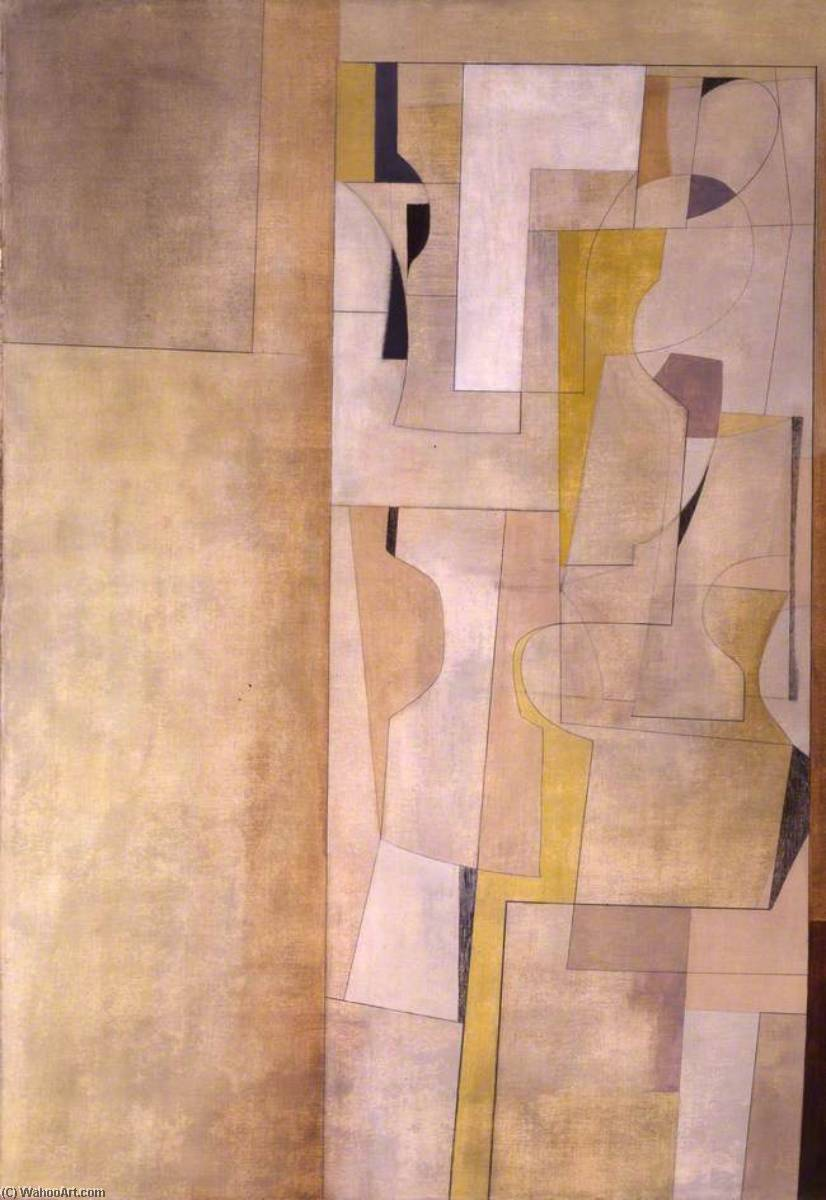 March 1949 (Trencrom), Oil On Canvas by Ben Nicholson (1894-1982, United Kingdom)