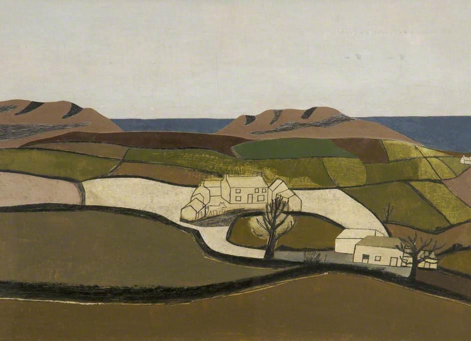 1940 (Cornish Landscape), 1940 by Ben Nicholson (1894-1982, United Kingdom) | WahooArt.com