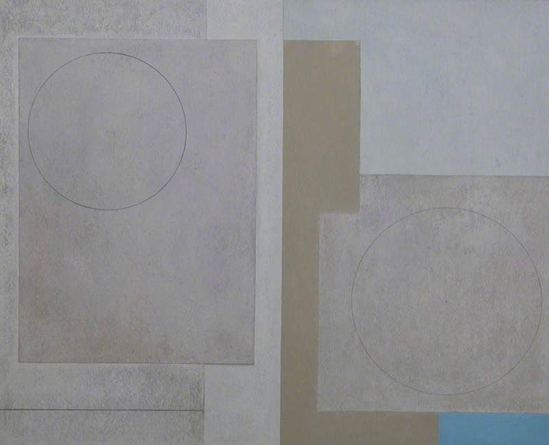 c.1943–1947 (composition abstract squares), Oil On Canvas by Ben Nicholson (1894-1982, United Kingdom)