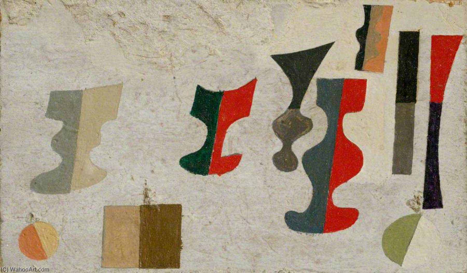 1934 (1st scheme for Massine ballet), 1934 by Ben Nicholson (1894-1982, United Kingdom) | Oil Painting | WahooArt.com