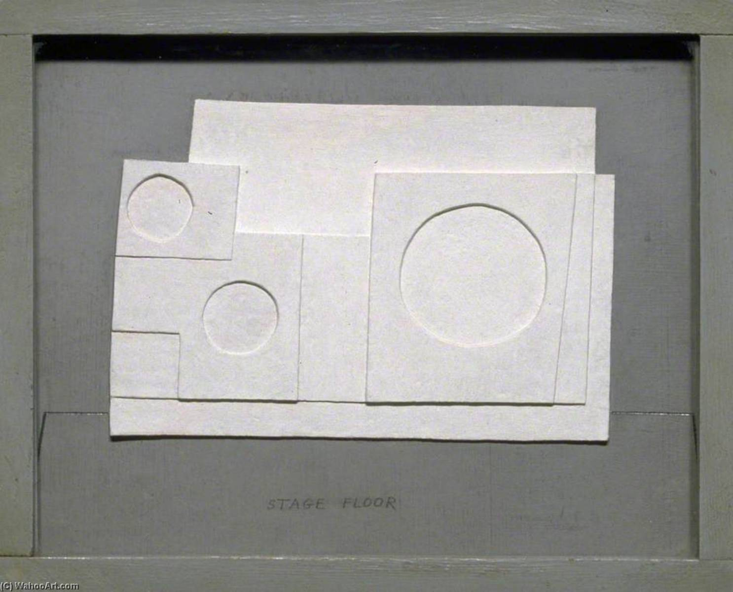 1934 project for Massine for Beethoven 7th Symphony Ballet, Oil by Ben Nicholson (1894-1982, United Kingdom)