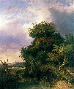 John Berney Crome - View near Bury St Edmunds, Suffolk