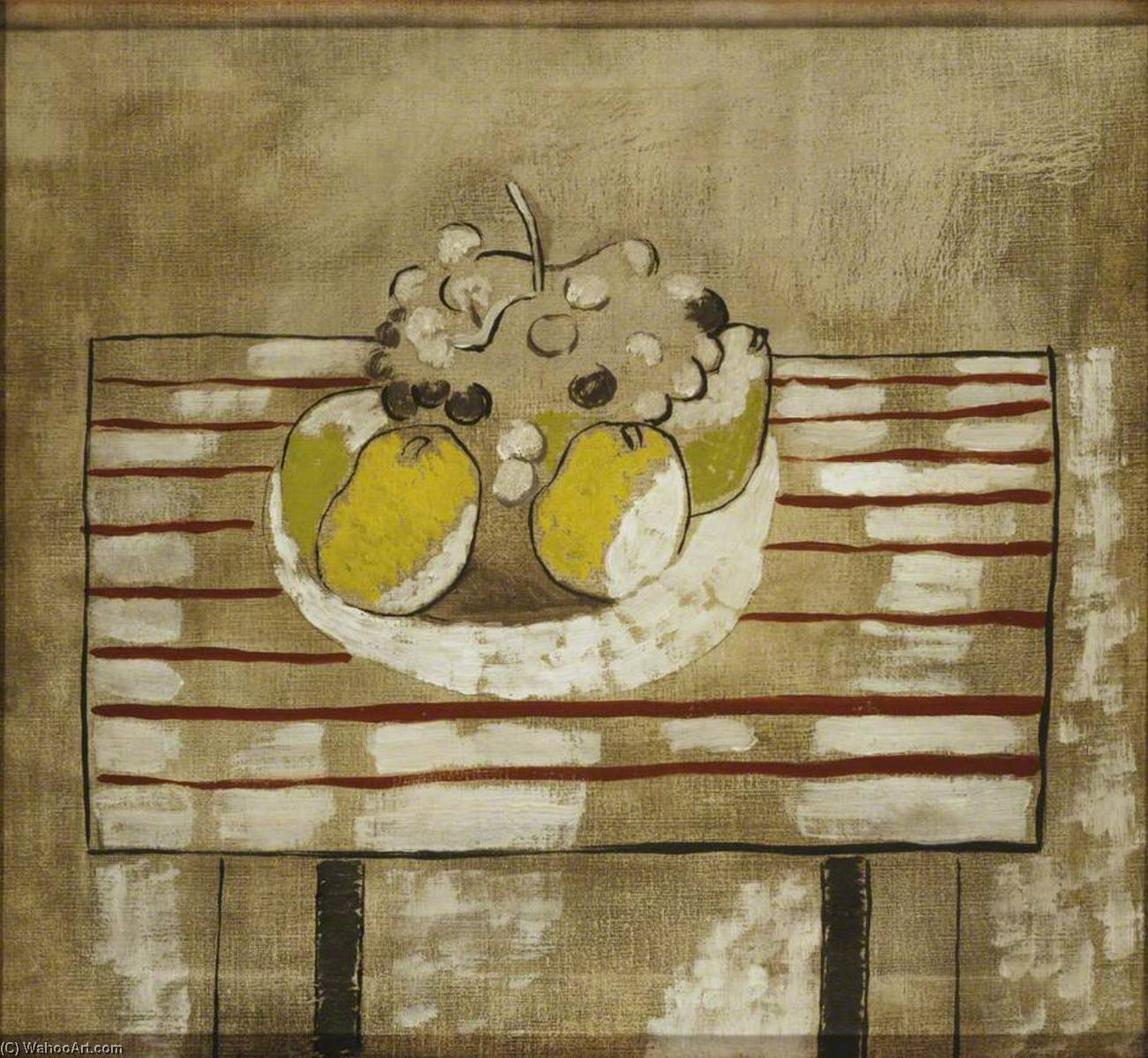 1926 (still life with fruit – version 2), 1926 by Ben Nicholson (1894-1982, United Kingdom) |  | WahooArt.com
