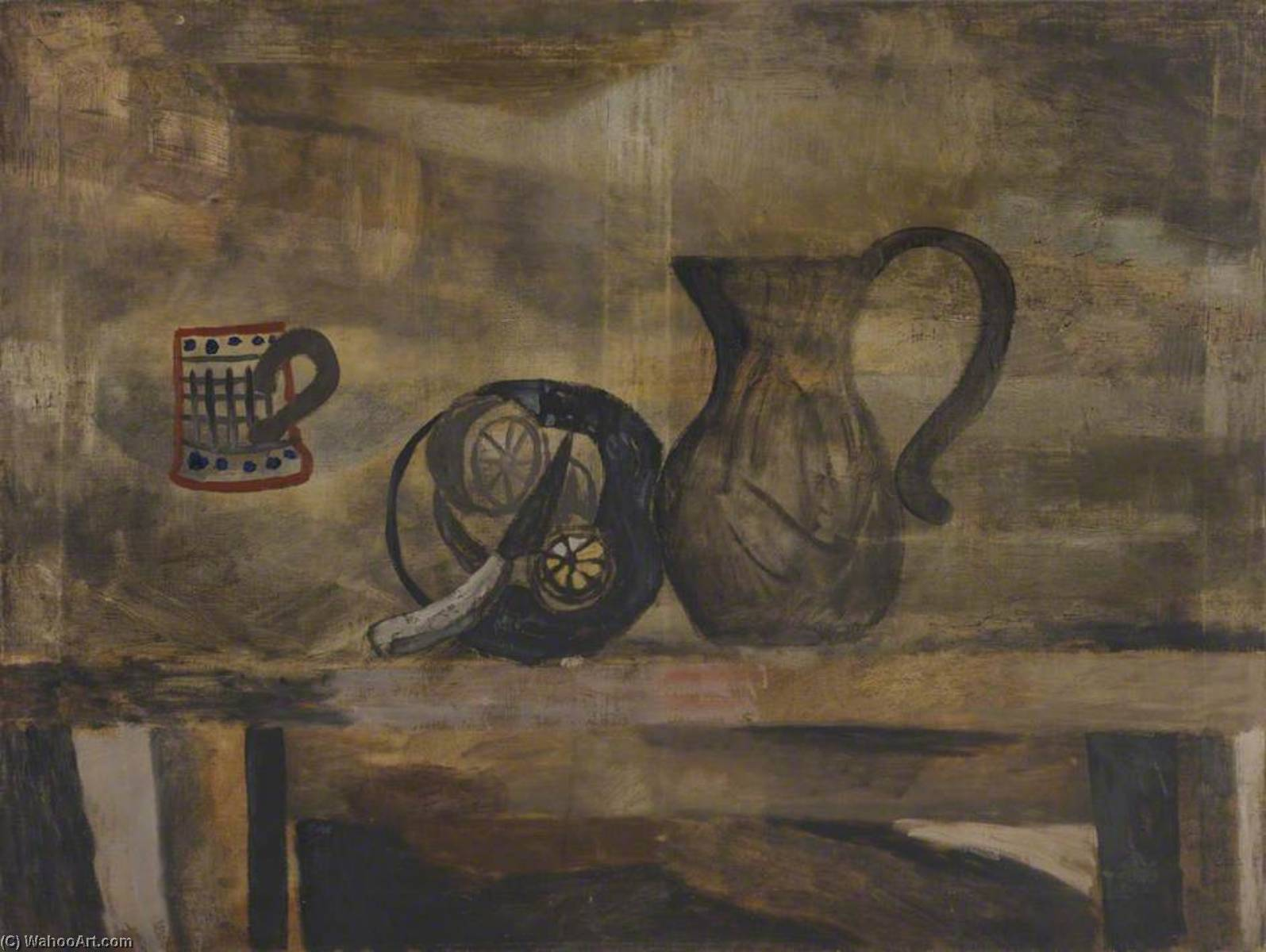 May 1927 (still life with knife and lemon), Oil On Canvas by Ben Nicholson (1894-1982, United Kingdom)
