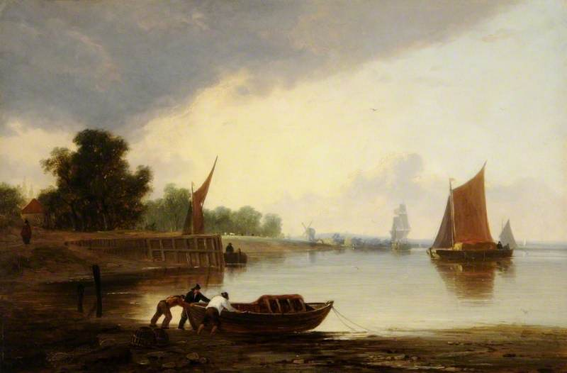 On the Yare, Norfolk by John Berney Crome (1768-1821) | Art Reproduction | WahooArt.com