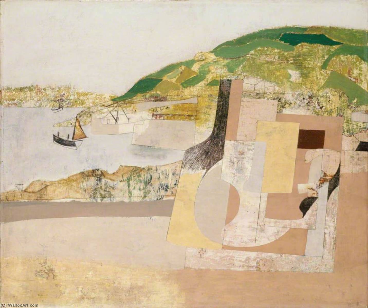 11 November 1947 (Mousehole), Oil On Canvas by Ben Nicholson (1894-1982, United Kingdom)