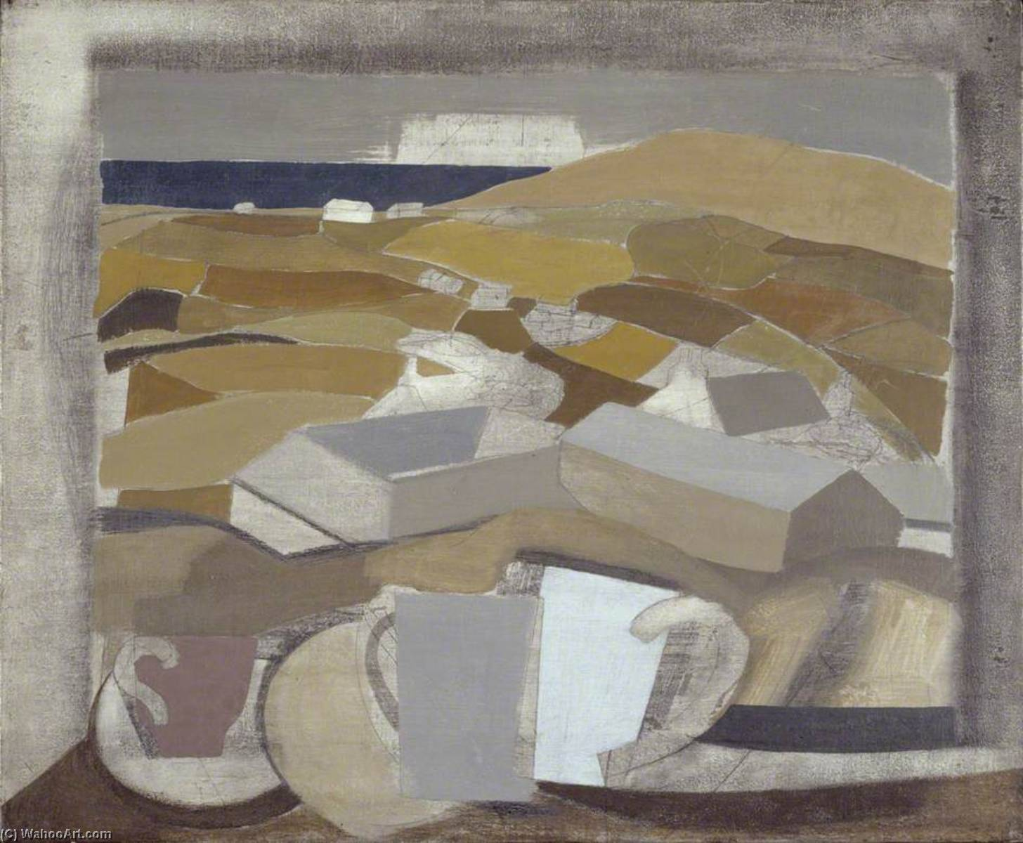 1946 (window in Cornwall), Pen by Ben Nicholson (1894-1982, United Kingdom)