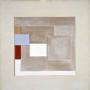 Ben Nicholson - 1940 (painted relief plover-s egg blue)