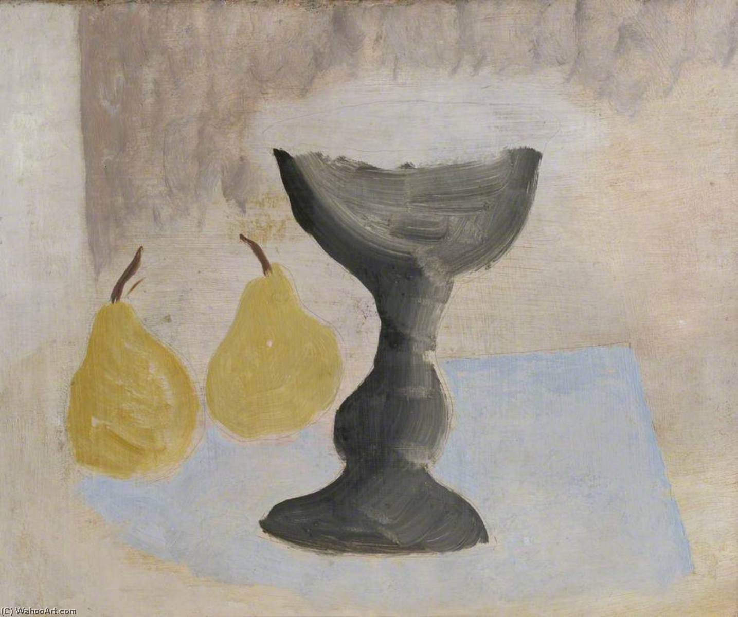 1924 (goblet and two pears), 1924 by Ben Nicholson (1894-1982, United Kingdom) |  | WahooArt.com